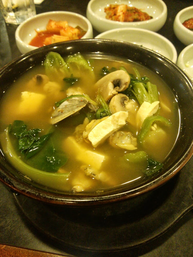 Korean Spinach Soup Clam Soup With Spinach