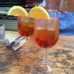 Italian (Aperol) spritz in this cool place