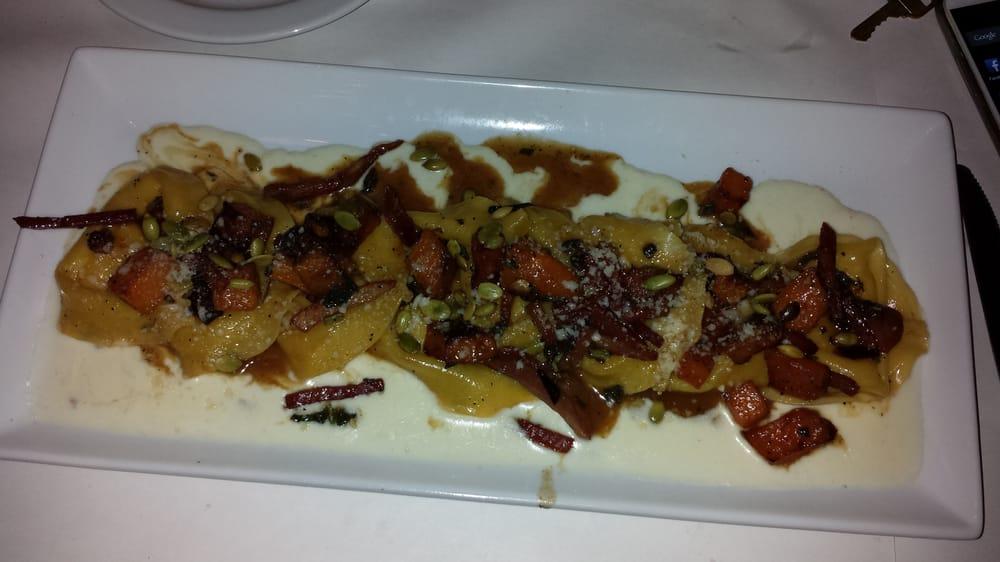 ... four-cheese stuffed pasta, roasted butternut squash, crispy prosciutto