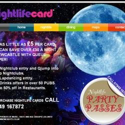 Nightlife Card, Newcastle, Tyne and Wear
