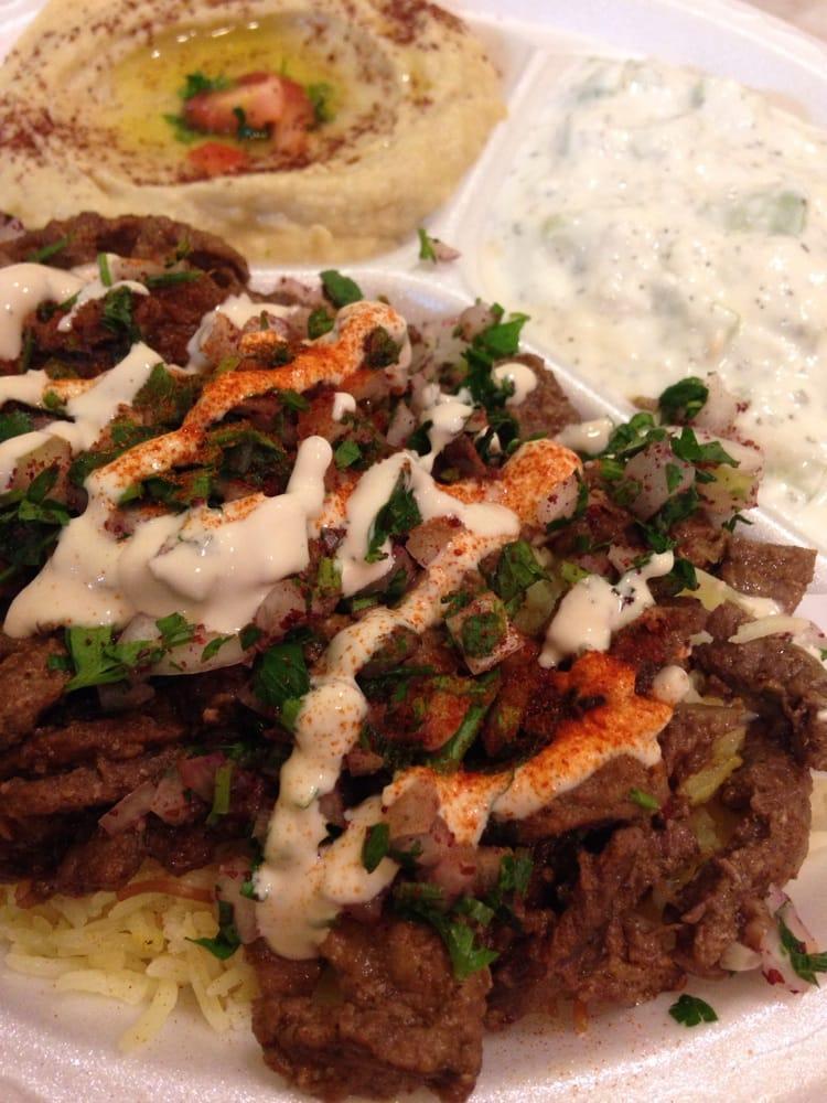 Beef Shawarma Yogurt Beef Shawarma Plate With Baba