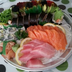 So much sushi so inexpensive for Lawrence fish market