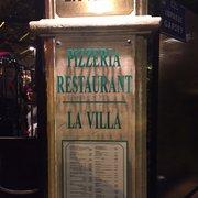 Restaurant La Villa - Marseille, France. La Villa sign.