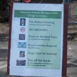 Rockville Hills Regional Park - Sign at the main entrance - Fairfield, CA, Vereinigte Staaten