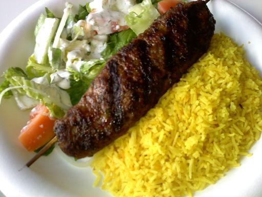 Beef Kabobs Plate Beef Kebab Plate With
