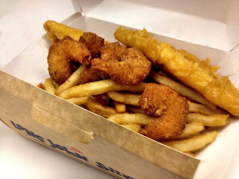 Fish n chips shrimp long john silver 39 s singapore yelp for Long john silver fish and chips