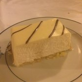 White chocolate cheesecake. More of a mousse than a cheesecake but melt in your mouth delicious!