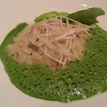 "#4 ""Risotto"" celeriac, new potato, smoked eel and parsley"