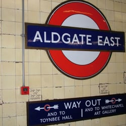 Aldgate East Station, London