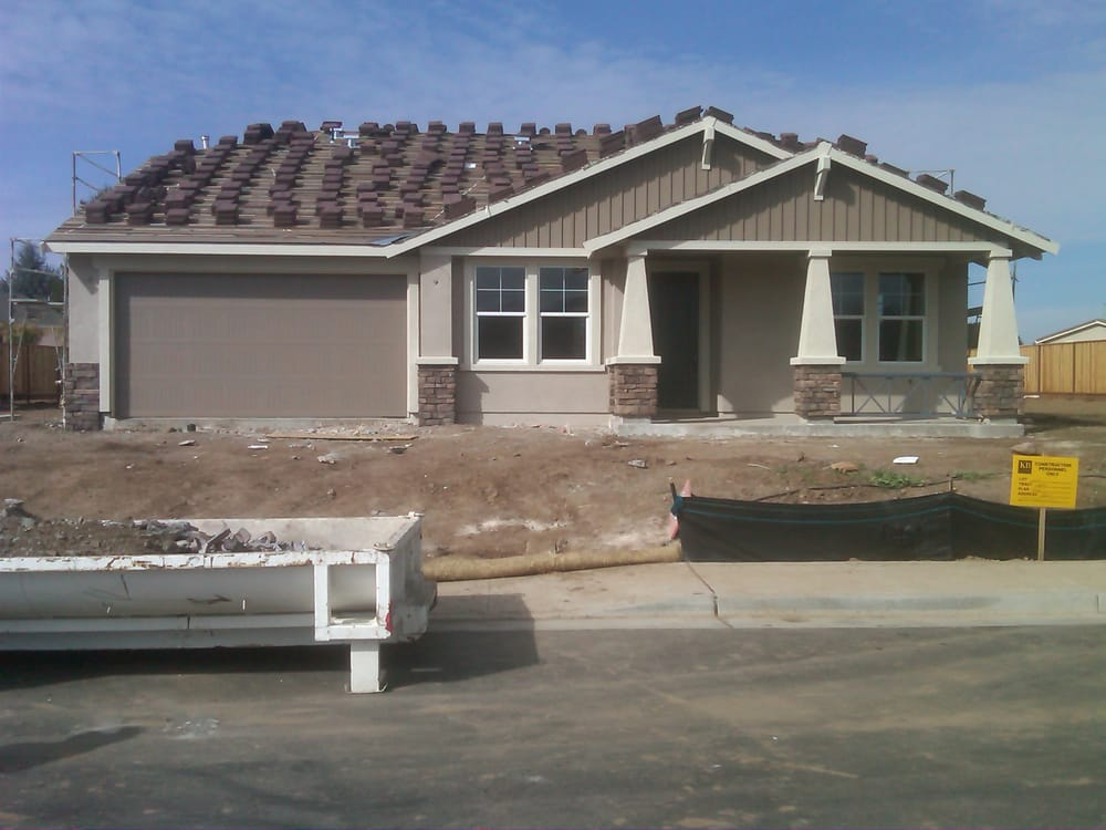 Our house under construction in the craftsman elevation yelp for Craftsman home elevations