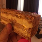 Mille feuille... The vanilla creme is…