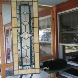 Glass Gazebo - Puddin Head likes our new glass piece. - Provincetown, MA, Vereinigte Staaten