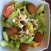 Panini Opa - Greek salad with falafel - Columbus, OH, Vereinigte Staaten