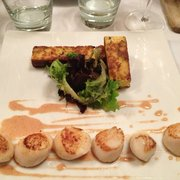 Roasted scallops and polenta