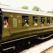 "Southern Railway Maunsell carriage No.1309 of 1935. Its restoration earnt the Bluebell Railway the finaugural ""Coach of the"