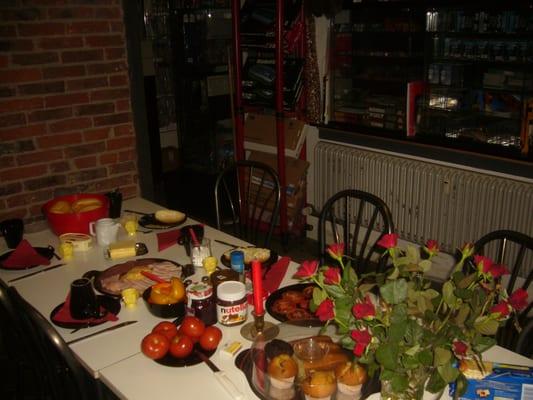 Individuelles Frühstück im EG des Fachwerkhauses ab 07:20 h (nach Absprache)