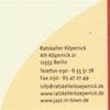 Urgemütlicher Rathauskeller in Berlin Köpenick.