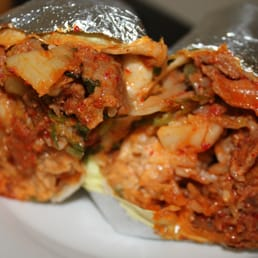 HRD - San Francisco, CA, États-Unis. kimchi burrito with spicy pork