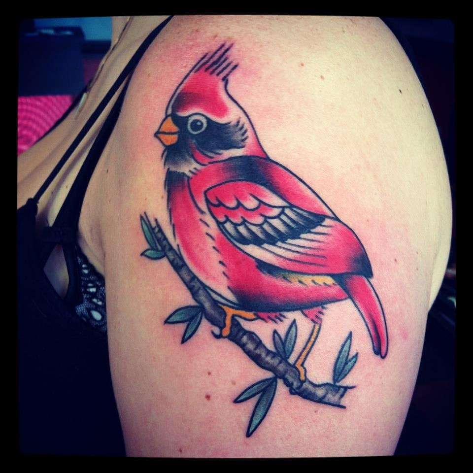 Cardinal tattoo by lucky yelp for Iron lotus tattoo