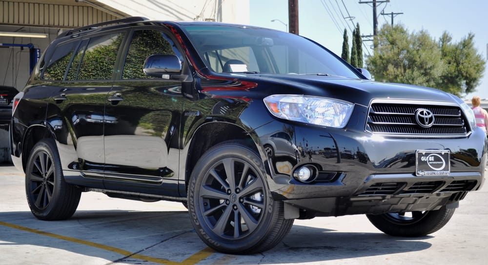 Toyota Highlander Hybrid Matte Black Factory Wheels And