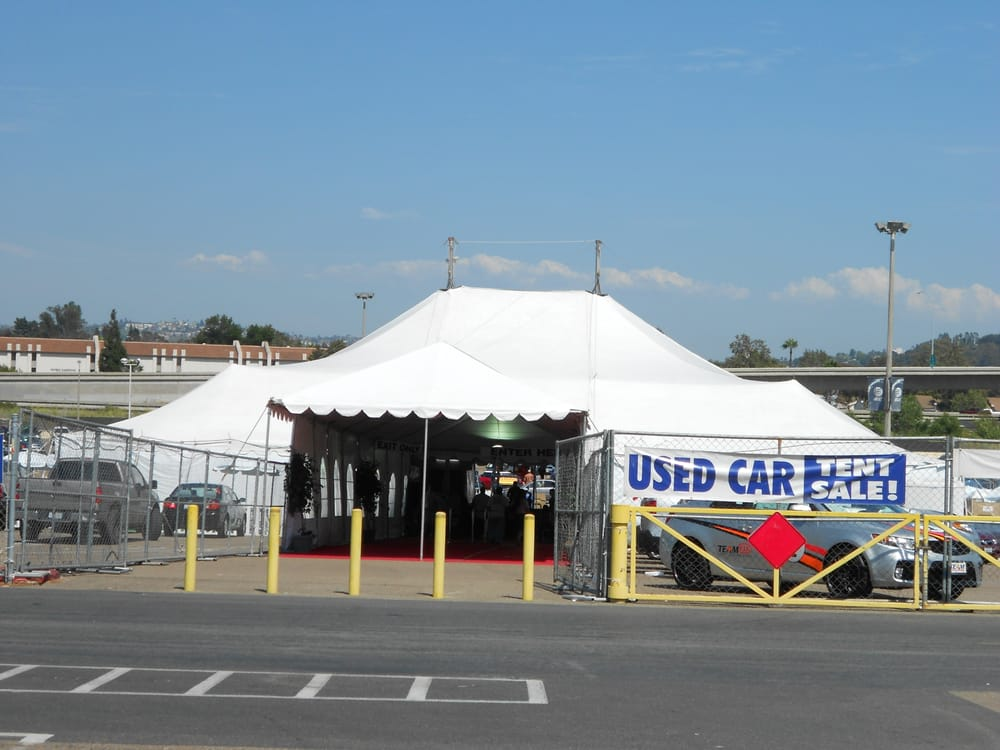 Qualcomm Used Car Tent Sale