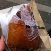 Nordic Bakery - Cinnamon roll. Still warm! Huzzah! - London, United Kingdom