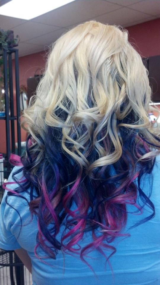 Colorful Rainbow Ombre Hair Beautiful Rainbow Ombre Color