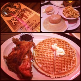 Roscoe's House of Chicken & Waffles - Los Angeles, CA, États-Unis. chicken & waffles, biscuits & gravy, Mac n cheese