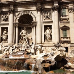 Fontana di Trevi.  A must see while in Rome.