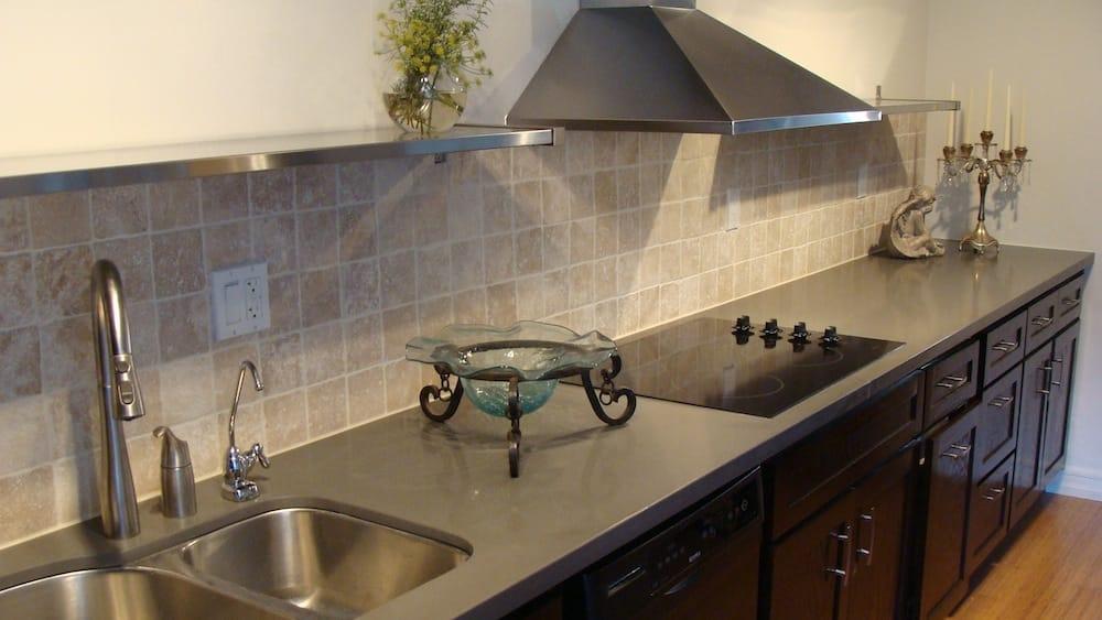 4x4 travertine tile backsplash finish by swedish stone work yelp