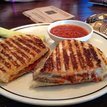 ... Cafe - Warrenville, IL, United States. Sliced meatball panini sandwich