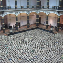 Ai Weiwei´s Stools (2014) in the atrium