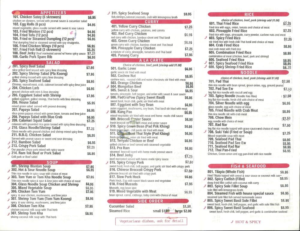 noodle thai pad best for Cozy as Menu Thai  New Thai Restaurant 1/20/2013  Cozy of Cuisine