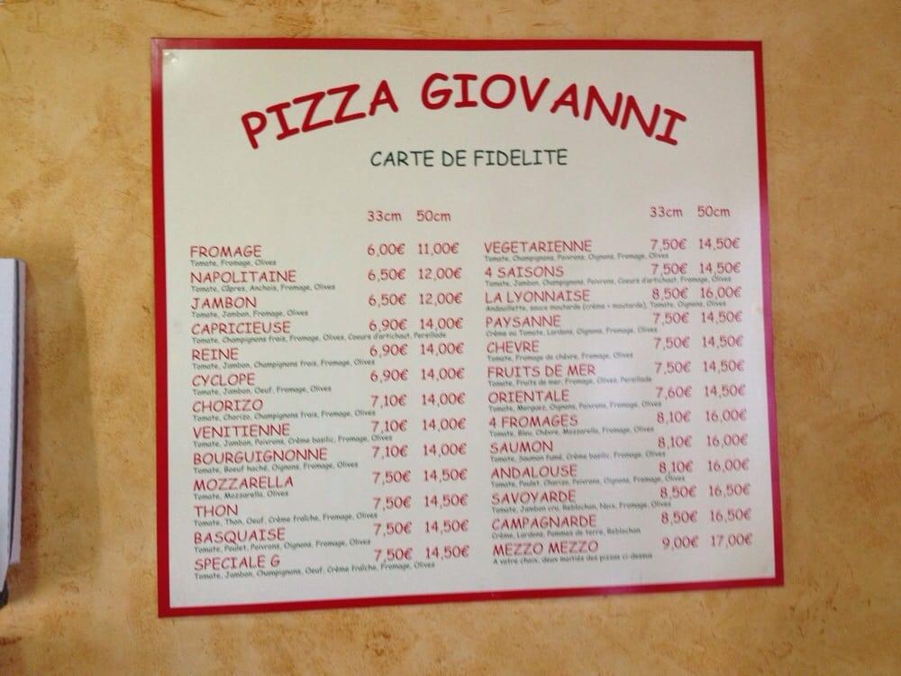 Pizza giovanni lyon
