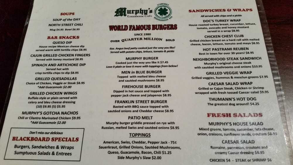 Murphy s townhouse cafe sandwiches belegte brote for Elite motors stamford ct