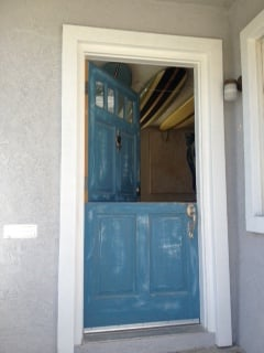 Rustic Blue Dutch Door Tm Cobb Door Baldwin Hardware Yelp