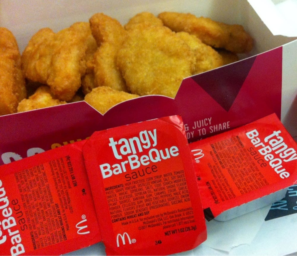 Bbq Sauce Chicken Chicken Mcnuggets With Bbq