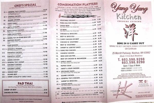 5 dragons nashua nh menu