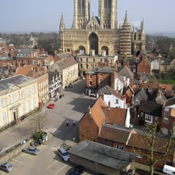 view of Lincoln Cathedral from Lincoln…