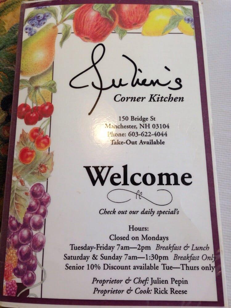 Julien S Corner Kitchen Manchester Nh