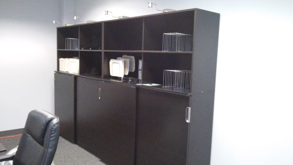 Ikea galant file cabinets with hutch & lights