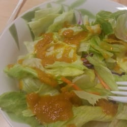 Fuji Express - Side salad with ginger dressing - Apex, NC, Vereinigte Staaten