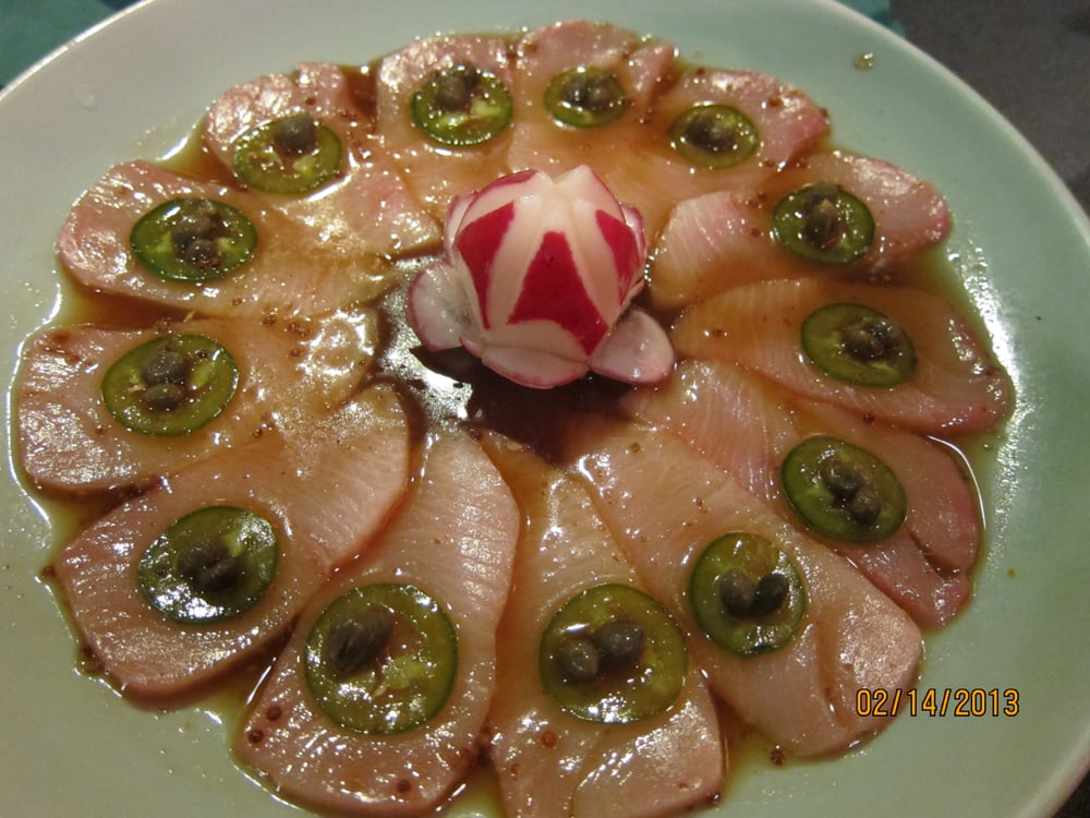Yellow tail with jalape o pepper yelp - Yoshi japanese cuisine ...