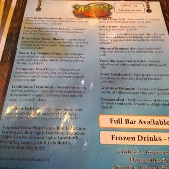 the backyard bar atlantic city nj united states beer menu