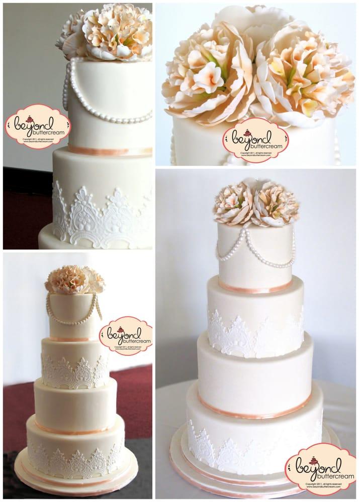 Pearl Wedding Cake Vintage Vintage Wedding Cake With
