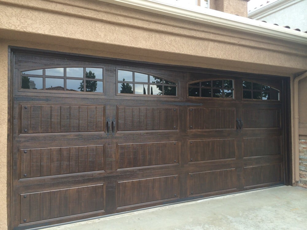 Painting wood garage doors to look like quotes for Paint garage door to look like wood
