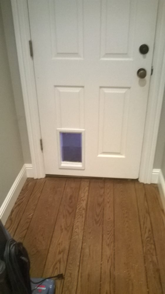 cat door installation 2
