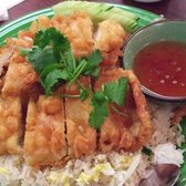 King of Thai Noodle House - Fried Chicken over Fried Rice ($7.25) - San Francisco, CA, Vereinigte Staaten