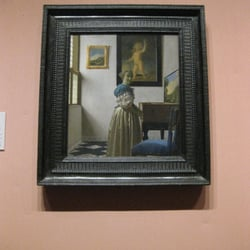"Vermeer ""A Young Woman standing at a…"