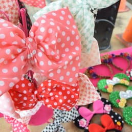 Big Bows only $2.00 each! :) Hot Glue & Faith Booth at the Anaheim Packing District Night Market